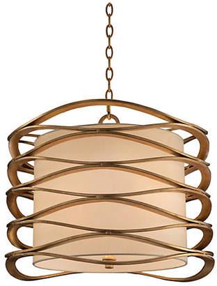 John-Richard Collection Ribbons 4-Light Pendant - Gold Leaf