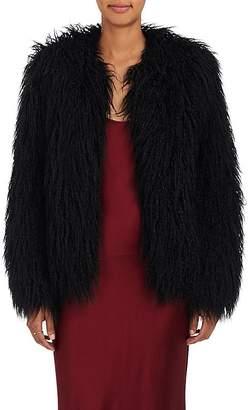 Nili Lotan Women's Lena Mongolian-Faux-Fur Jacket