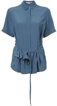 Stella McCartney short sleeved ruffle trim shirt