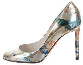 Christian Dior Printed Patent Leather Pumps