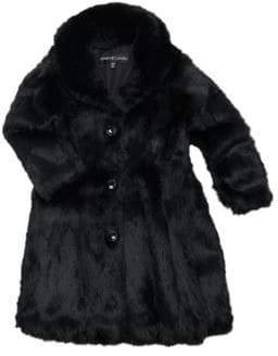 Adrienne Landau Little Girl's& Girl's Rabbit Fur Coat