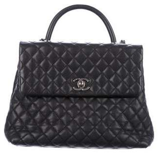 Chanel Large Coco Handle Bag Black Large Coco Handle Bag