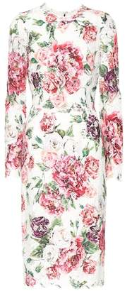 Dolce & Gabbana Floral-printed lace dress