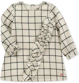 Calvin Klein Baby Girls Flannel Plaid Cotton Dress