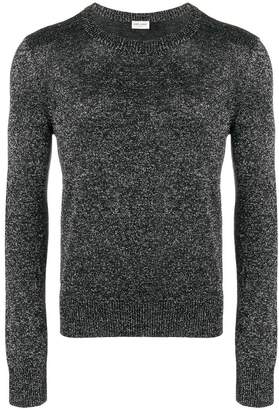 Saint Laurent metallic crew neck sweater
