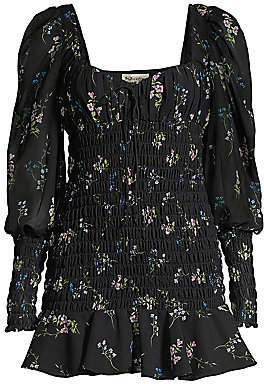 For Love & Lemons Women's Dixon Floral Smocked Dress
