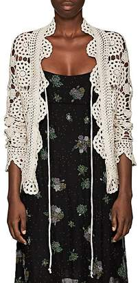 Marc Jacobs Women's Floral Crochet Cardigan - Cream