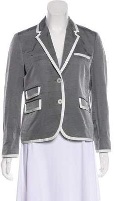Black Fleece Silk Structured Blazer