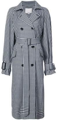 Tibi gingham print trench coat