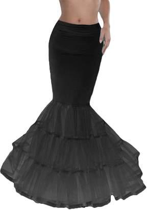 Dobelove Women's Mermaid Fishtail Hoop Bridal Wedding Petticoat ( Size, )