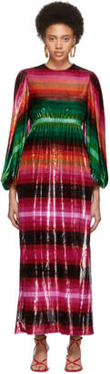 Valentino Multicolor Velvet Baladera Dress