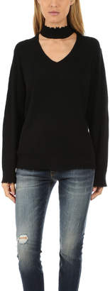 R 13 Choker V Neck Sweater