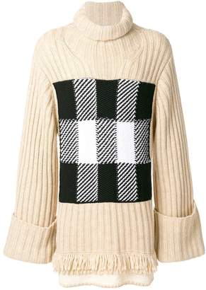 J.W.Anderson check panel sweater