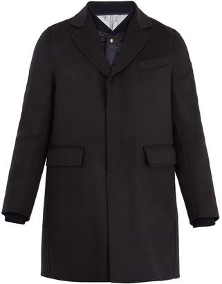 Moncler Double-layered wool overcoat
