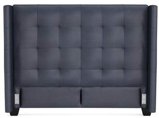 Williams-Sonoma Gable Leather Wing Bed & Headboard
