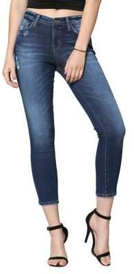 Flying Monkey Distressed Crop Skinny Jeans