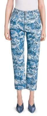 Off-White Hi-Rise Tapestry Printed Jeans