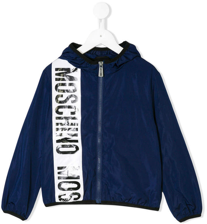 Moschino Kids logo stripe jacket
