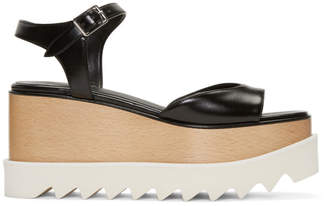 Stella McCartney Black Platform Elyse Sandals