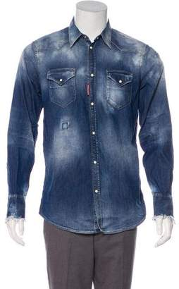 DSQUARED2 Denim Snap-Front Shirt w/ Tags