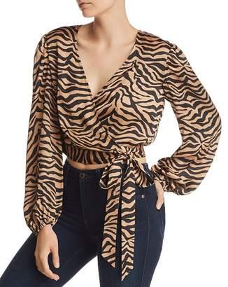Bardot Elena Zebra Print Wrap Top - 100% Exclusive