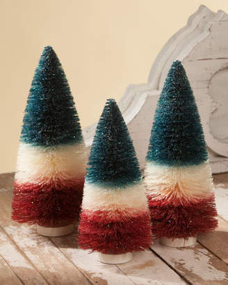 Americana Bethany Lowe Bottle Brush Trees, Set of 3