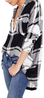 Women's Free People Oversized Plaid Tunic $98 thestylecure.com