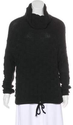 Bella Luxx Basketweave Cowl Neck Sweatshirt