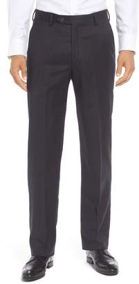Berle Flat Front Solid Wool Trousers