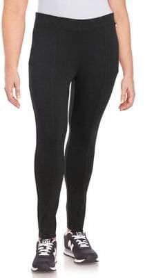 Calvin Klein Plus Seam-Detail Stretch Pants