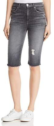 Hudson Zoeey Over-the-Knee Denim Shorts in Malice