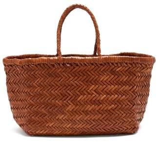 Dragon Optical Diffusion - Triple Jump Woven Leather Basket Bag - Womens - Tan