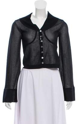 Herve Leger Bell Sleeve Cropped Cardigan