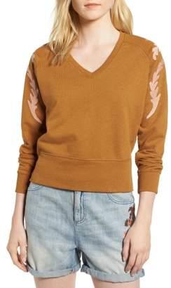 Scotch & Soda Embroidered V-Neck Sweater