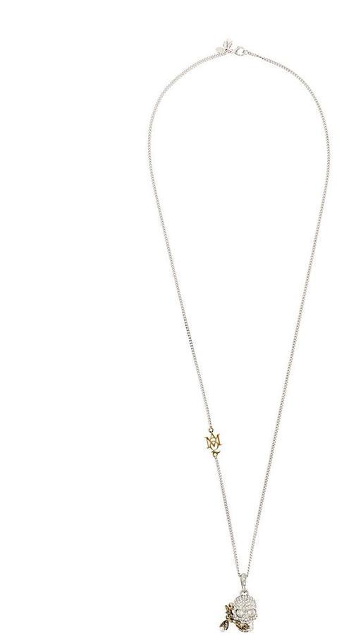 Alexander McQueenAlexander McQueen piercing skull pendant necklace