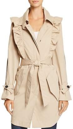 Joie Gila Ruffled Trench Coat