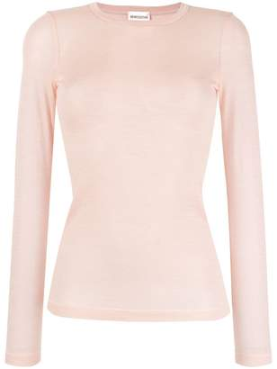 Semi-Couture Semicouture sheer round neck top