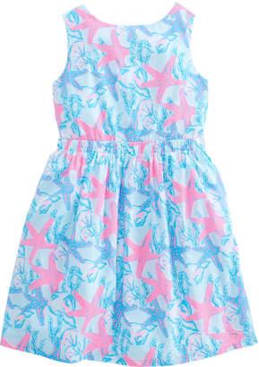 Vineyard Vines Girls Starfish & Conch Tie Back Dress