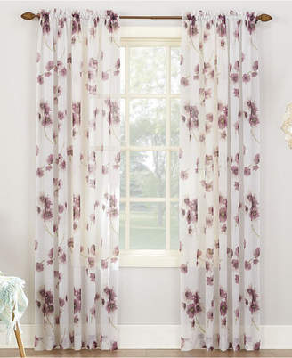 "Lichtenberg Bimini Textured Floral Sheer Voile Curtain 51"" x 95"" Panel"
