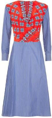 Sandro Printed Wrap Dress
