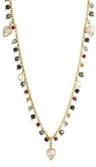 Cabrini Shana Gulati Sliced Raw Diamond& Gemstone Necklace