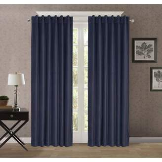 Style Decor Velvet Rod Pocket/Back Tab Window Solid Room Darkening Thermal Single Curtain Panel