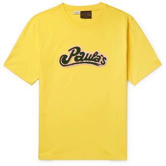 Loewe + Paula's Ibiza Logo-Appliquéd Cotton-Jersey T-Shirt