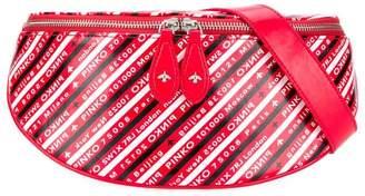Pinko logo print bum bag