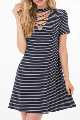 Others Follow Striped Choker Dress