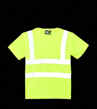Reclaimed Vintage fluorescent t-shirt with reflective tape
