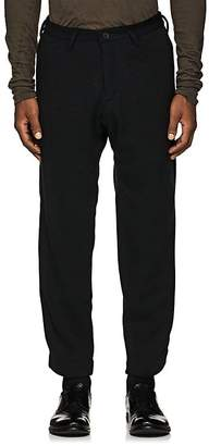 Yohji Yamamoto Men's Wool-Blend Knit Slim Trousers