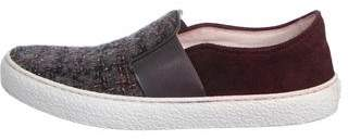 Chanel Tweed Slip-On Sneakers
