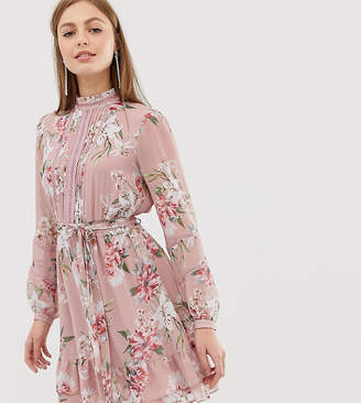 Forever New long sleeve printed pin tuck dress