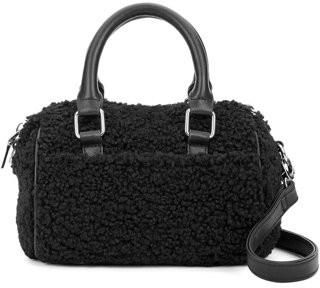 Scoop Faux Sherpa Furry Mini-Duffel Crossbody Bag